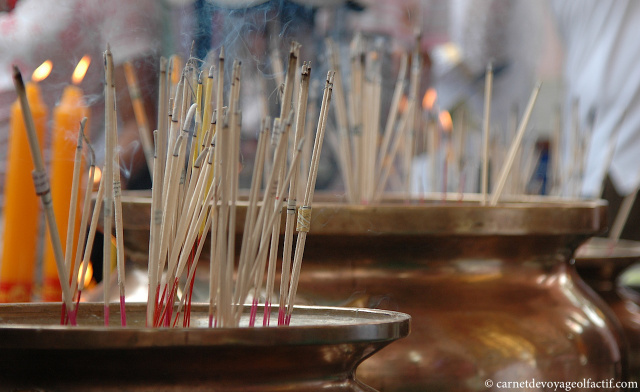 Effluves de bâtons d'encens