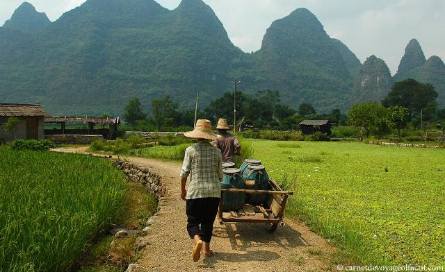 Paysage bucolique aux abords de Yangshuo