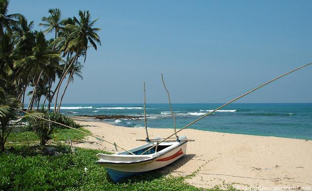 Plage du Sud du Sri Lanka